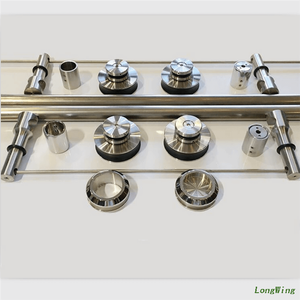 LongWing Glass Shower Door Parts Frameless Shower Door Hardware Stainless Steel Fittings